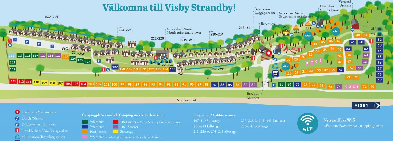 Camping Karta Europa.Camping Best Accommodation Visby Camping Cottages